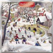 Pack of 8 Multi Charity Christmas Cards - Christmas Fun in Village